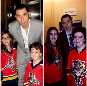 My brother and I with Luongo: 2006 and 2014