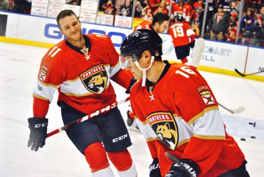 Huberdeau and Barkov, Image courtesy of @turbuL3NT2 / COTP Photography